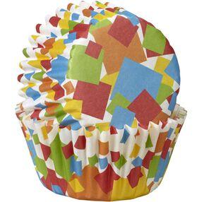 Geometric Confetti Mini Cupcake Liners
