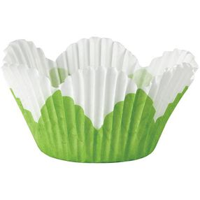 White Petal Mini Baking Cups