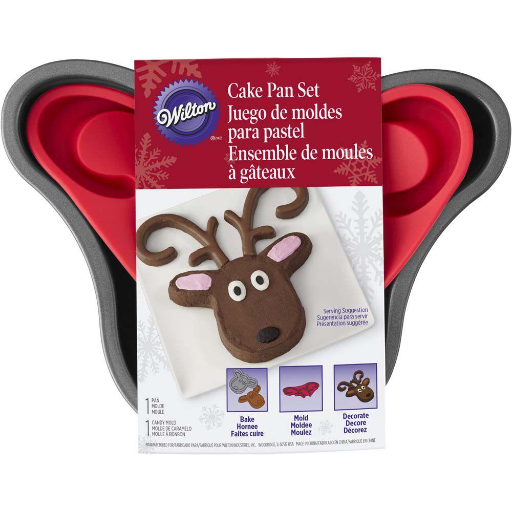 reindeer cake pan set wilton