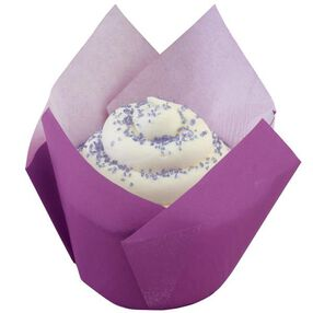 Purple Pleated Baking Cups