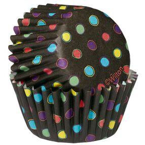 Wilton Multicolored Dots on Black Mini Baking Cups, 100 Ct. 415-2281