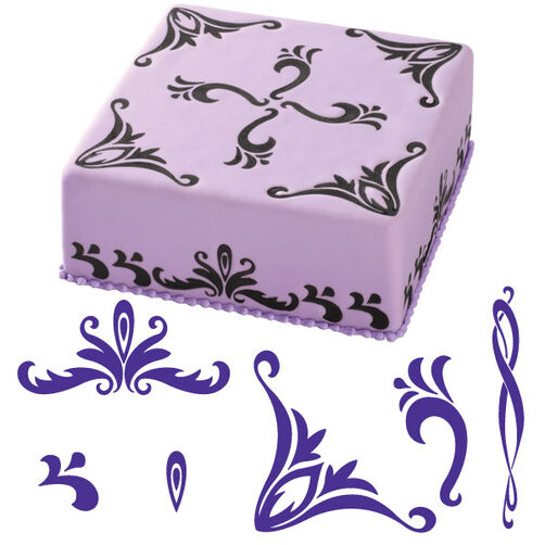 6-Pc. Flourishes Cake Stamp Set
