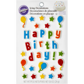 Kid's Birthday Edible Cake Topper Decorating Kit