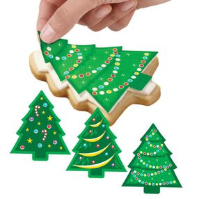 Twinkling Tree Sugar Sheets Edible Decorating Stickers