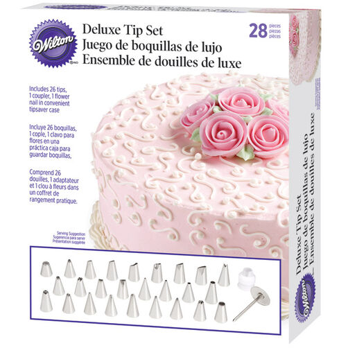 Cake Decorating Leaf Tips : Deluxe Tip Set Wilton