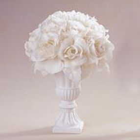 Ivory Rose Topiary Arrangement