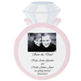Engagement Ring Save the Date Magnet