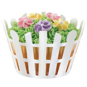 Picket Fence Cupcake Wraps
