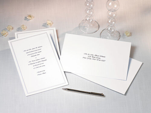 High Quality Single Border Invitation Kit