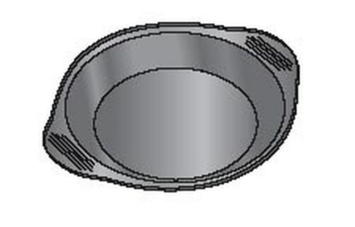 9 x 1 1/2 in. Excelle Elite Deep Pie Pan with Fluted Edges