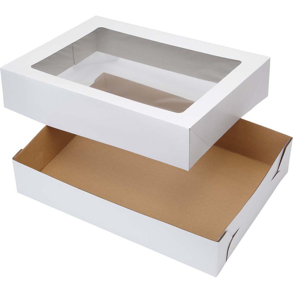 how to make a cake box