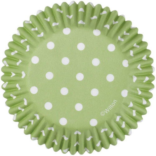 Green Dots Standard Baking Cups