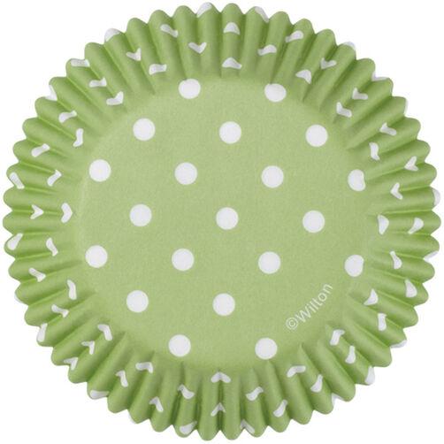 Green Polka Dots Cupcake Liners