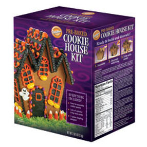 Pre-Baked Halloween Cookie House Kit