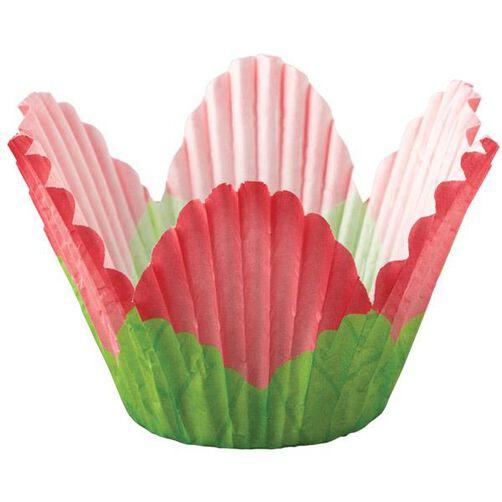 Red Petal Cupcake Liners