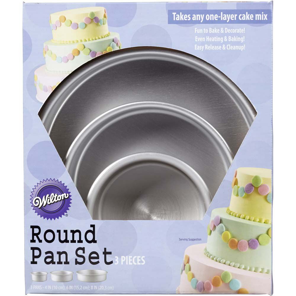 perfect performance round cake pan set wilton. Black Bedroom Furniture Sets. Home Design Ideas
