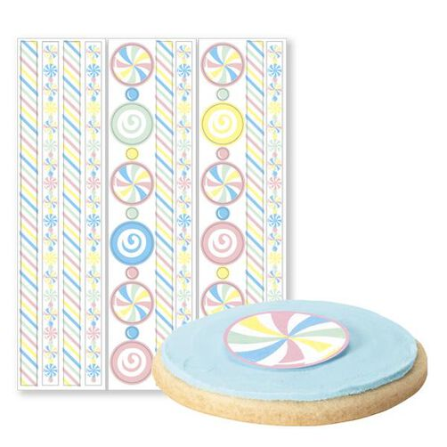 Candy Edible Pre-Cut Borders and Stickers