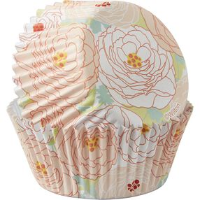 Floral Outline Cupcake Liners
