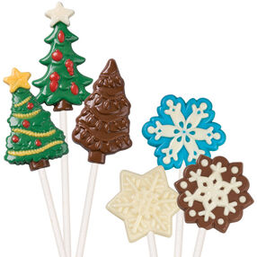 Tree & Large Snowflake Lollipop Molds 2 Pack