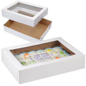 19 x 14 in. Corrugated Cake Boxes with Window