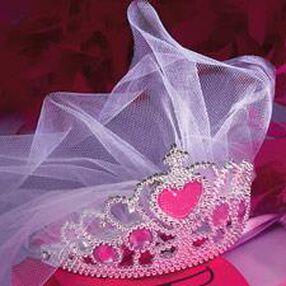 Bride-To-Be Tiara with Veil