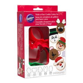 Wilton Cookie Cutter Set Plastic Christmas Faces, 10 pc.
