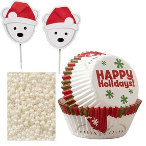 Wilton Christmas Polar Bear Cupcake Decorating Kit