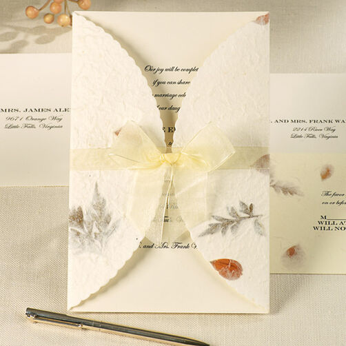 Pressed Floral Wedding Invitation Kit