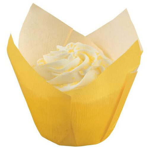 Yellow Pleated Baking Cups