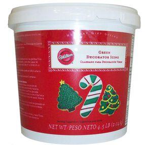 Green Ready-To-Use Decorator Icing - 4.5 lbs Tub