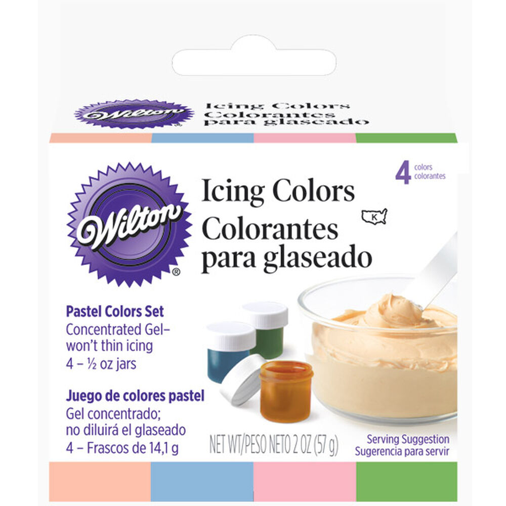 Pastel 4 - Icing Colors Set | Wilton