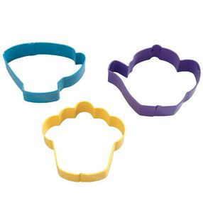 Tea Party Colored Metal Cutter Set