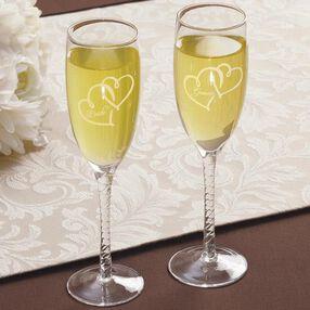 Formal Bride/Groom Toasting Glasses