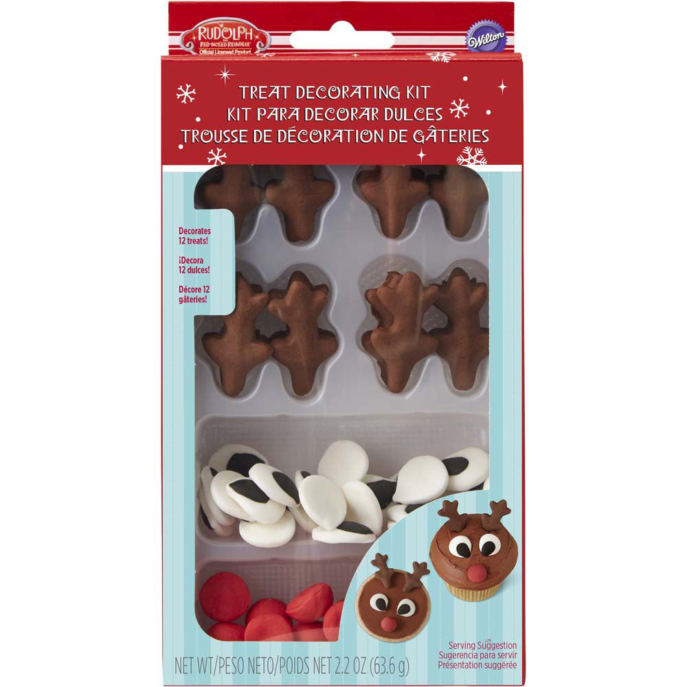 Edible Reindeer Cake Decoration : Rudolph the Red-Nosed Reindeer Candy Decorations Wilton
