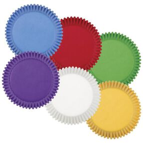 Rainbow Multi-Colored Baking Cups