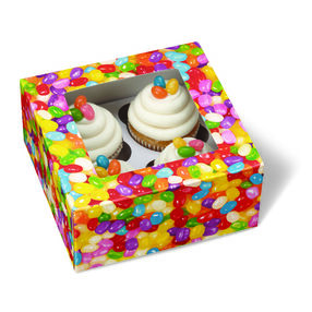 Jelly Bean Cupcake Treat Boxes, 4-Ct.