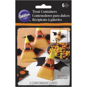 Wilton Candy Corn-Shaped Treat Containers, 6-Pack
