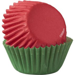 Red and Green Mini Cupcake Liners