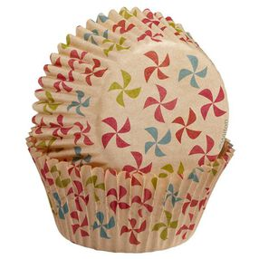 Wilton Unbleached Multicolored Pinwheel Pattern Baking Cups, 75 Ct. 415-2133