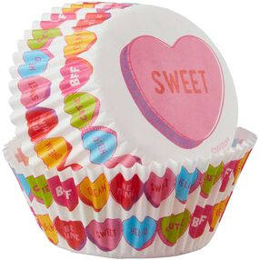 Candy Hearts Baking Cups