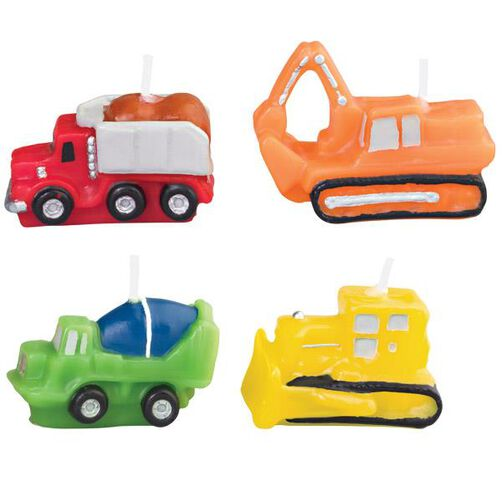 Construction Vehicles 4-Piece Candle Set