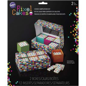 Pixel Cakes Cookie Sampler Box Set, in packaging