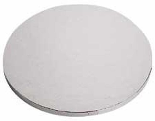 16 in. Round Silver Cake Base