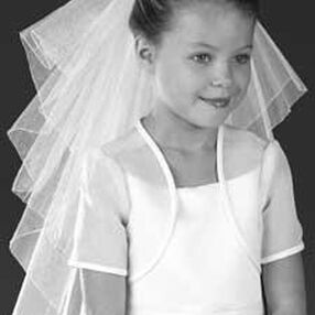 Tiered Rolled Edge Communion Veil