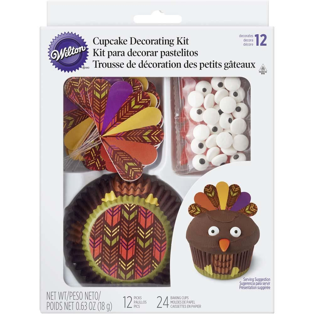 Wilton Cake Ideas For Thanksgiving : Thanksgiving Turkey Cupcake Decorating Kit Wilton