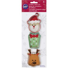 Wilton Santa Christmas Cookie Cutter Set