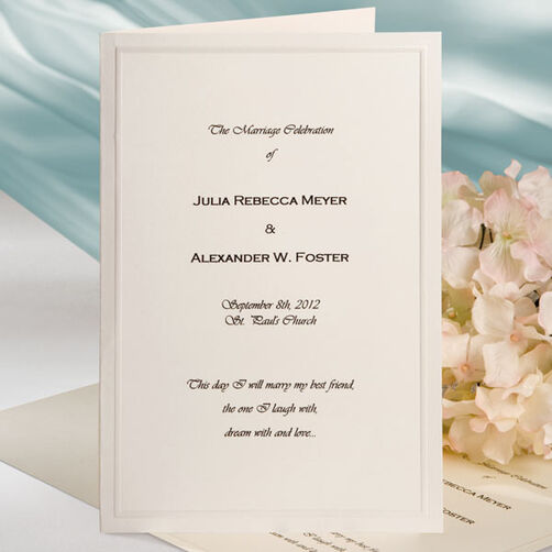 Keeping with Tradition (Ivory) Bifold Wedding Programs