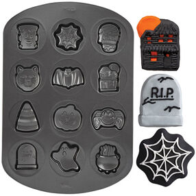 Halloween Cookie Shapes Non-Stick Pan