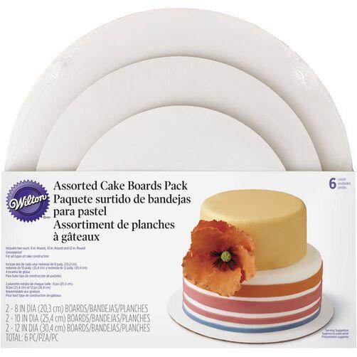 Wilton 3-Tier Assorted Cake Board Set