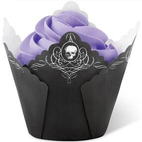 Black Skull Pleated Cup